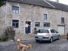 This is a house of my friend Jean-Claude (he is on the photo in the door). His car is here too - Renault Megane. The dog - 'Pasha' - is very kind and playful (his favourite game is to bring slipper thrown by somebody out).