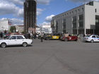 The parking was organized near Sibir Hotel. That was a timecontrol point for this day.
