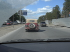 On the way to Novosibirsk near the railway station Seyatel I met the car of Bob.
