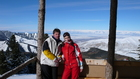 My friends Dmitry Leshev and Natalia Yamkovaya at altitude 2650m. They were lucky to enjoy the mountain skiing this year at Karakol Ski-base.