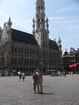 The main square of Brussels - Grand Place. There are a lot of people there - mostly tourists of course. We have met a russian speaking group here - the tourists from Ukraine.