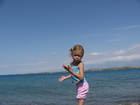 """Why should I wait? The water is warm..."" said Lyuba trying to go swimming in Issyk-Kul Lake."