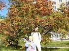 Arriving in Novosibirsk we found an autumn here. At this time all rowan-trees looks beautiful, like my girls.
