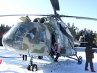 When we were skiing, helicopter arrived. Probably it brings clients for heli-skiing which is popular in Kyrgyzstan mountains and Karakol ski-base is not exception for this.